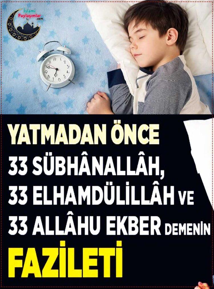 yatmadan önce hangi dua okunur